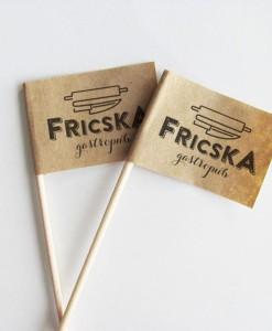 Pickinfo gastro-marketing, reklámeszköz, reklámzászló, eco-reklám, fogpiszkáló zászló