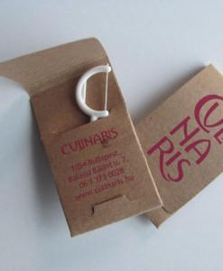 Pickinfo egyedi formájú csomagolású fogselyem, reklám fogselyem, eco reklám